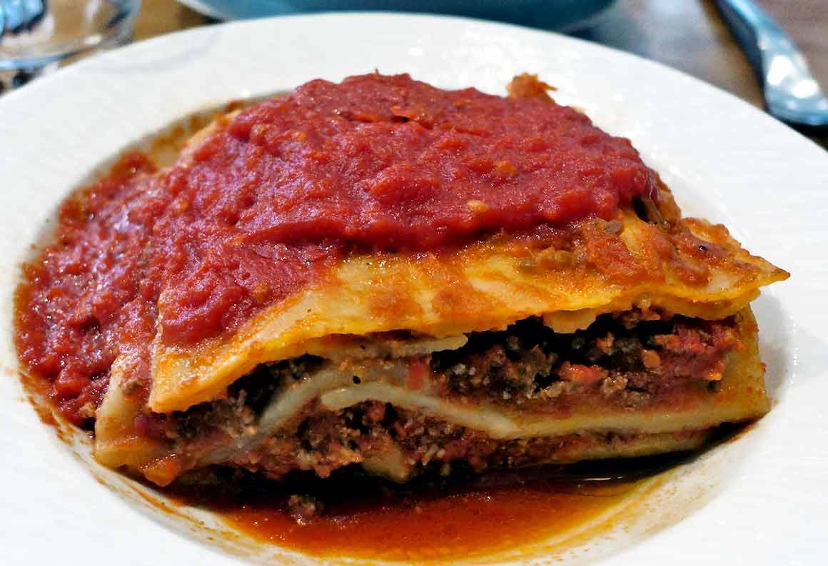 Restaurant Il Russo, Lasagne