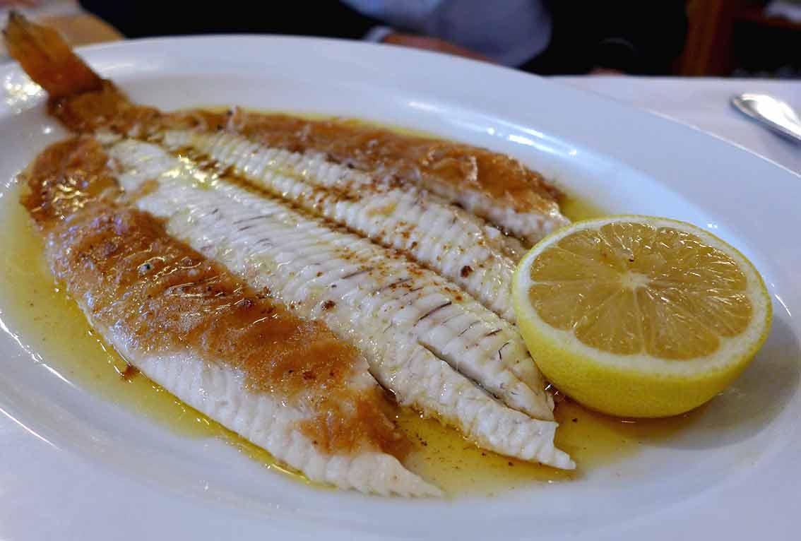 Restaurant La Coupole, Sole meunière