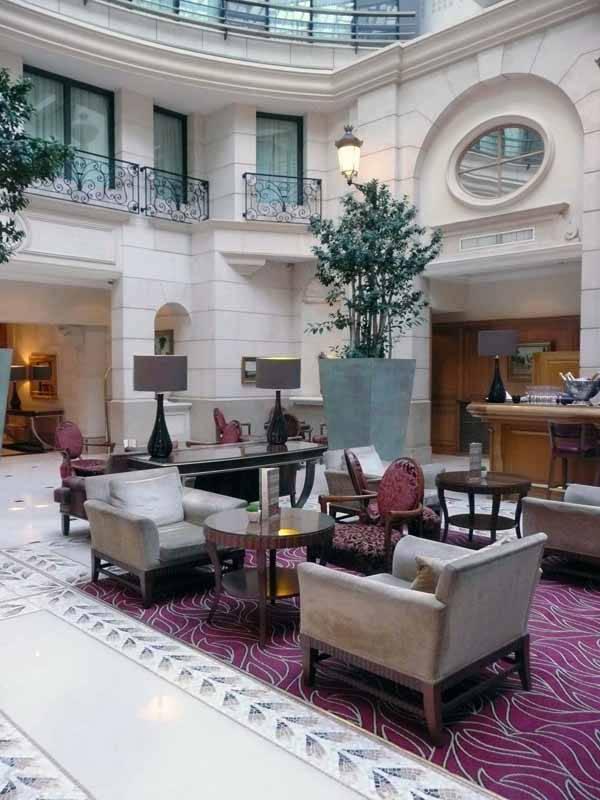 Restaurant du Marriott, le lobby de l'hôtel