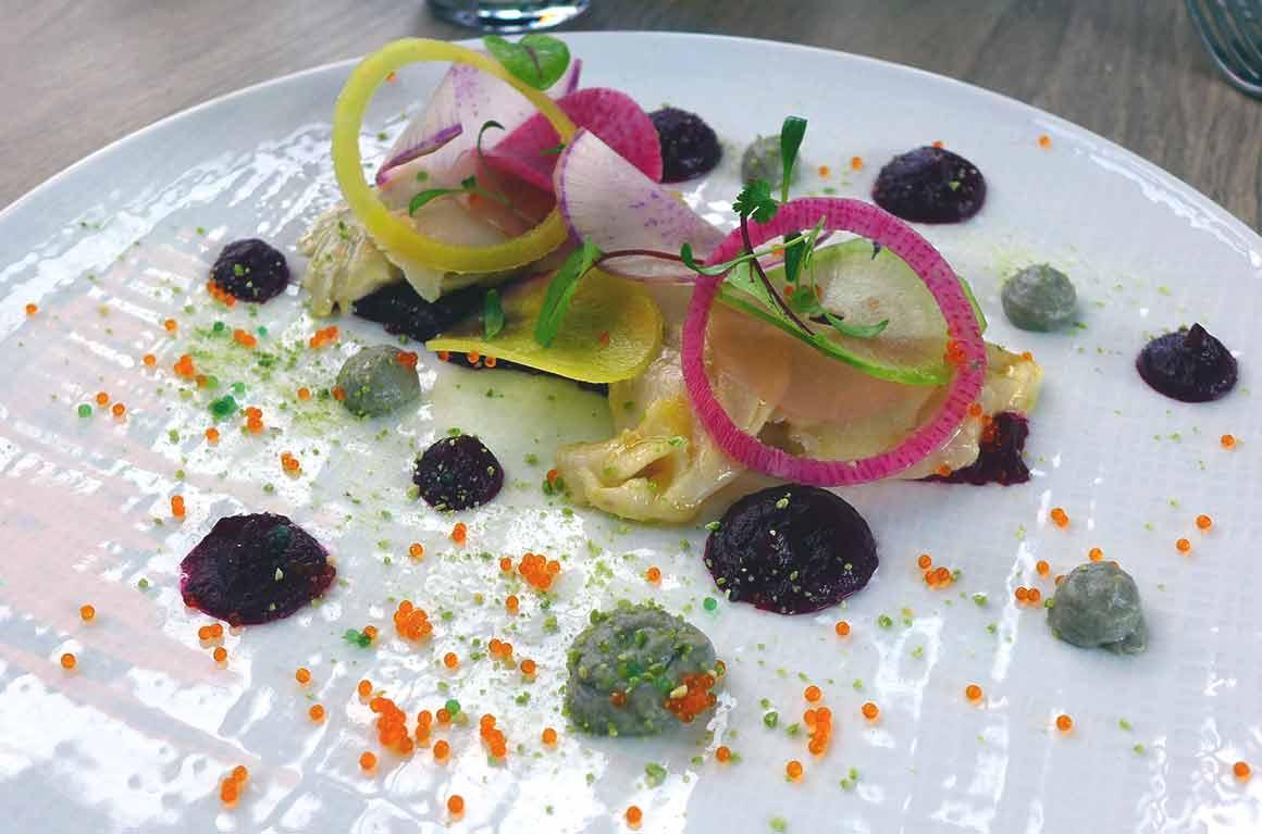 Restaurant LA CITY : Ceviche de Daurade aux Betteraves