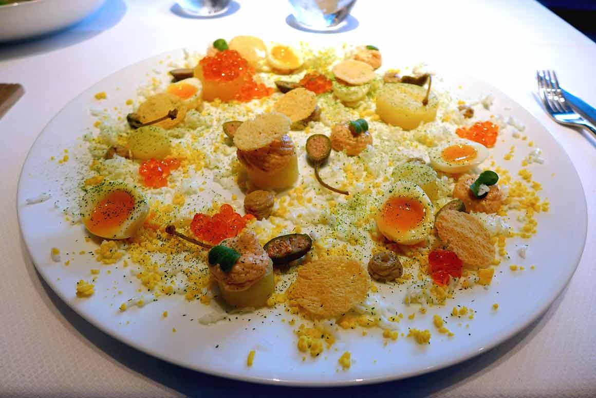 Restaurant Petrossian, assiette La Tour Maubourg