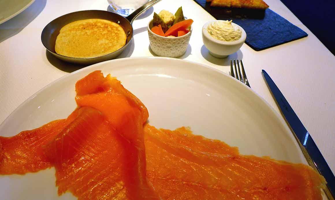 Restaurant Petrossian, saumon fumé
