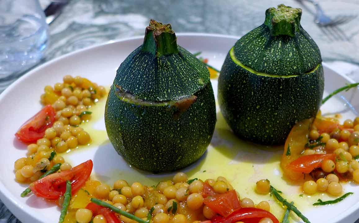 Restaurant ZEBRA : La courgette farcie végétale