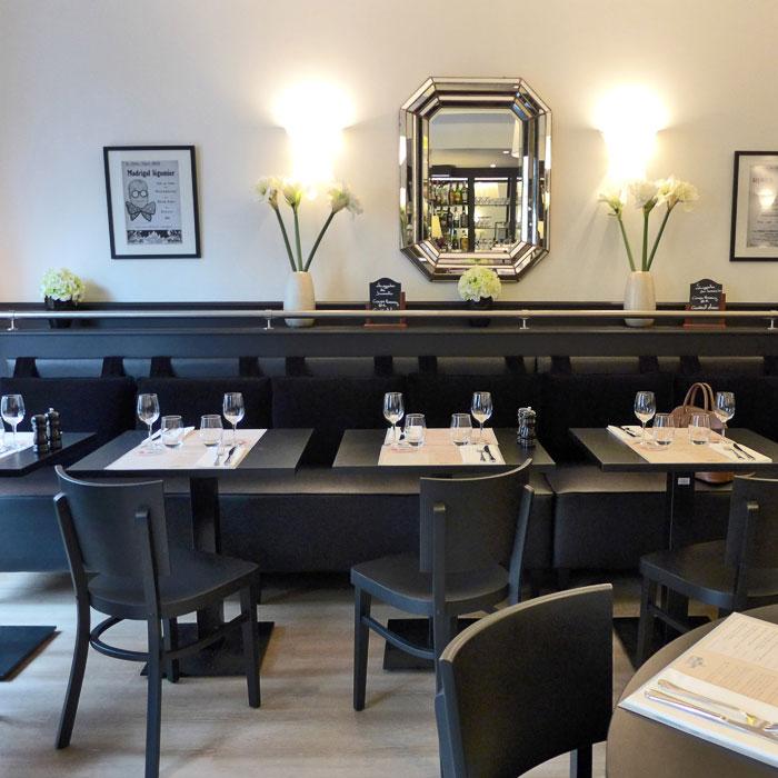 Brasserie Le Sanglier Bleu, La salle