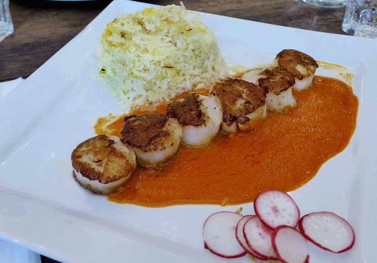 Restaurant Le Spicy Home, noix de Saint-Jacques