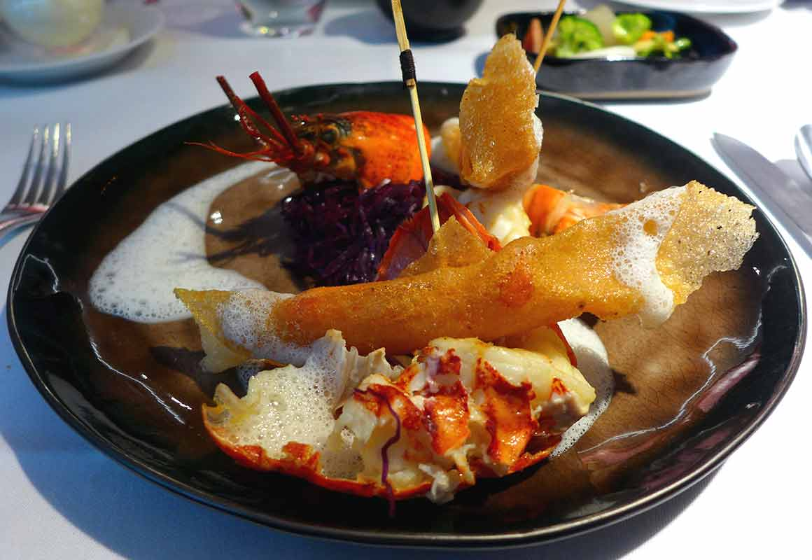 Restaurant Masha, Homard flambé