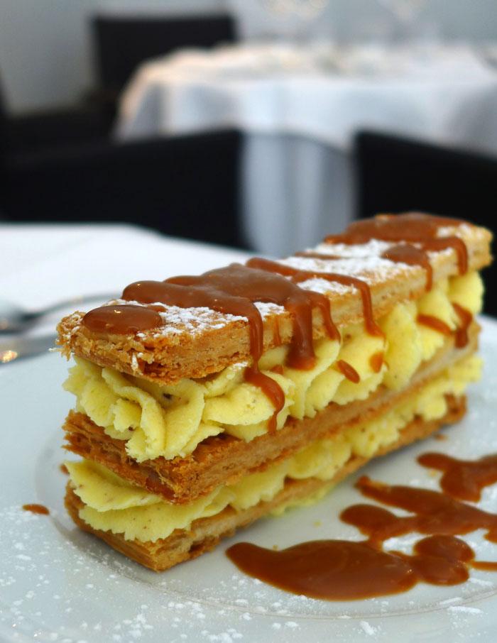 Restaurant Le Tourbillon, Millefeuille à la fleur de noisette