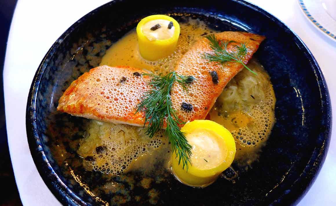 Restaurant LE TRAIN BLEU, Filets de rouget barbet rôtis