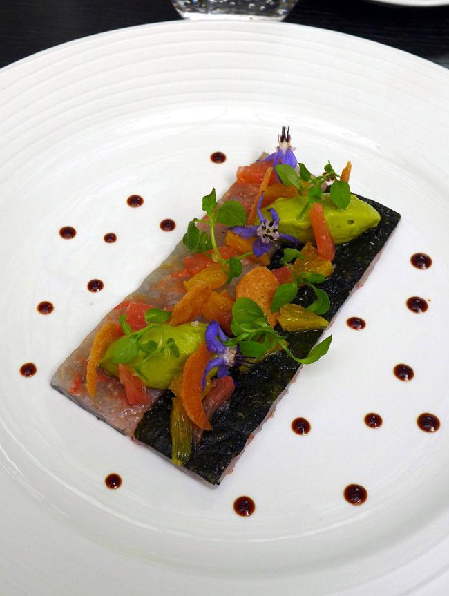 Restaurant LE V, Carpaccio de langoustines