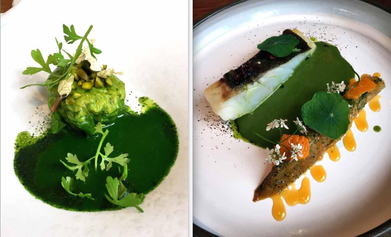 Restaurant Le Verbois : Tourteaux voile de laitue de mer pistache