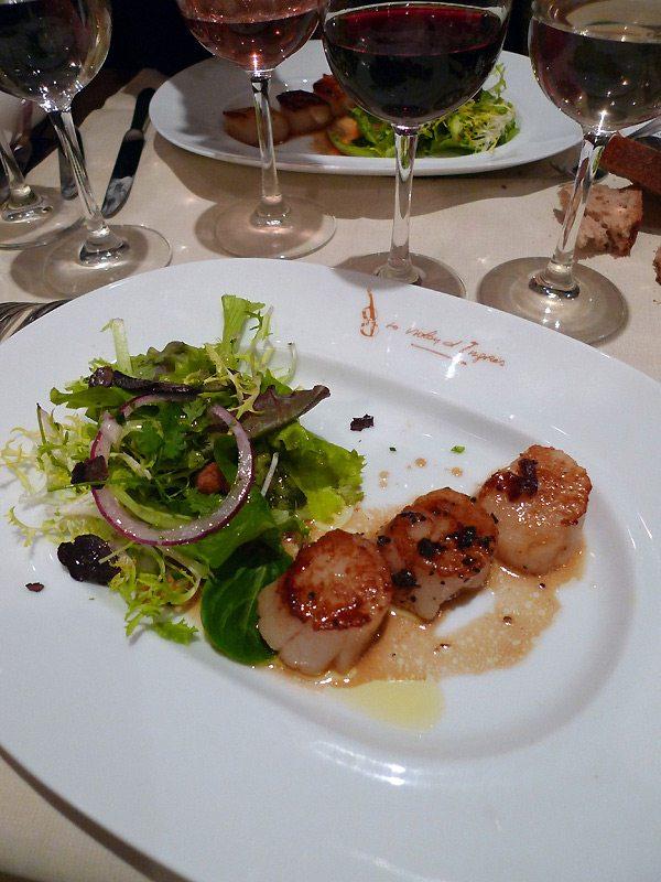 Restaurant Le Violon d'Ingres,  salade de noix de coquilles Saint-Jacques