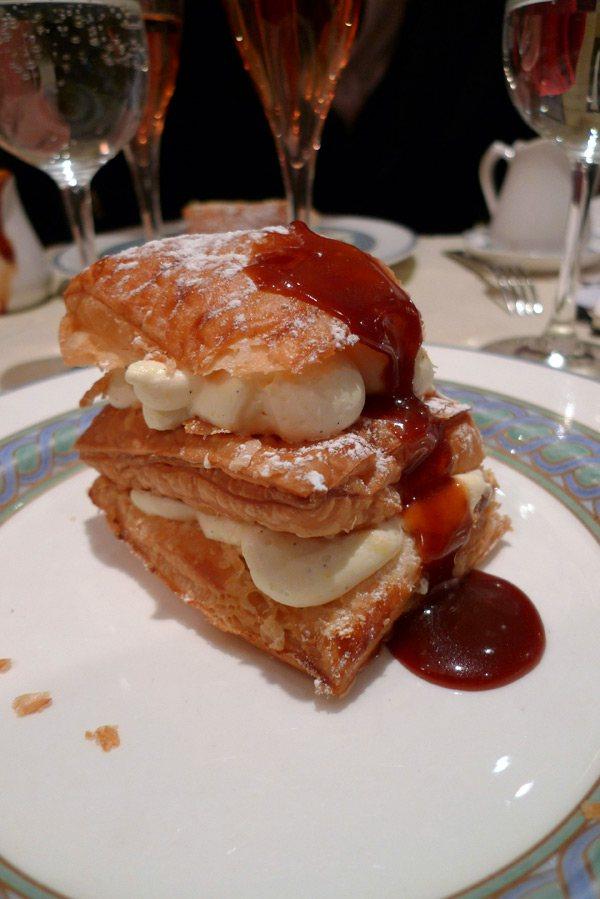 Restaurant Le Violon d'Ingres, millefeuille à la vanille