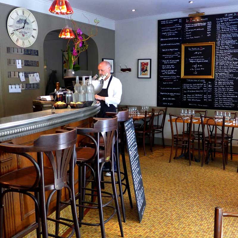Restaurant Le Zinc du Marché : La salle