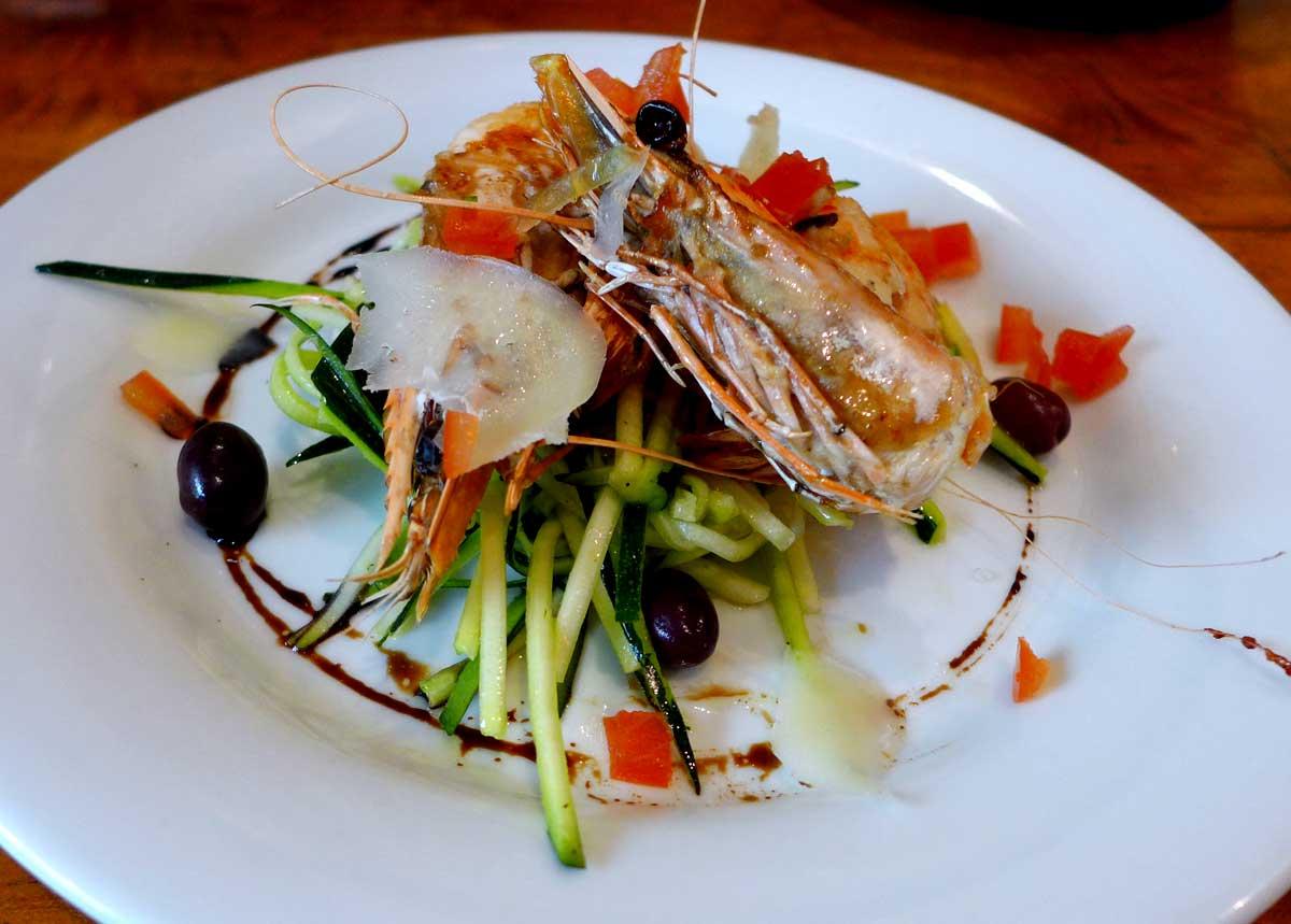 Restaurant Le Zinc du Marché : Courgettes marinées au citron