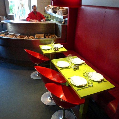 Restaurant L'Ecaille de la Fontaine, banc d'huîtres