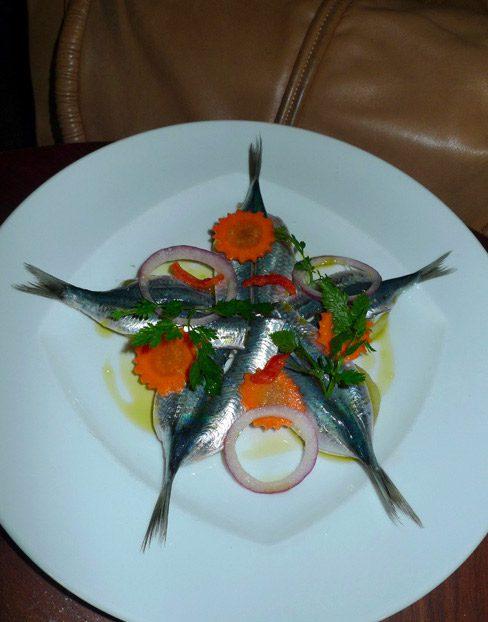 Restaurant L'Ecaille de la Fontaine, sardines marinnées