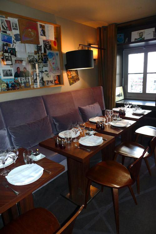 Restaurant L'Ecaille de la Fontaine, la salle à l'étage