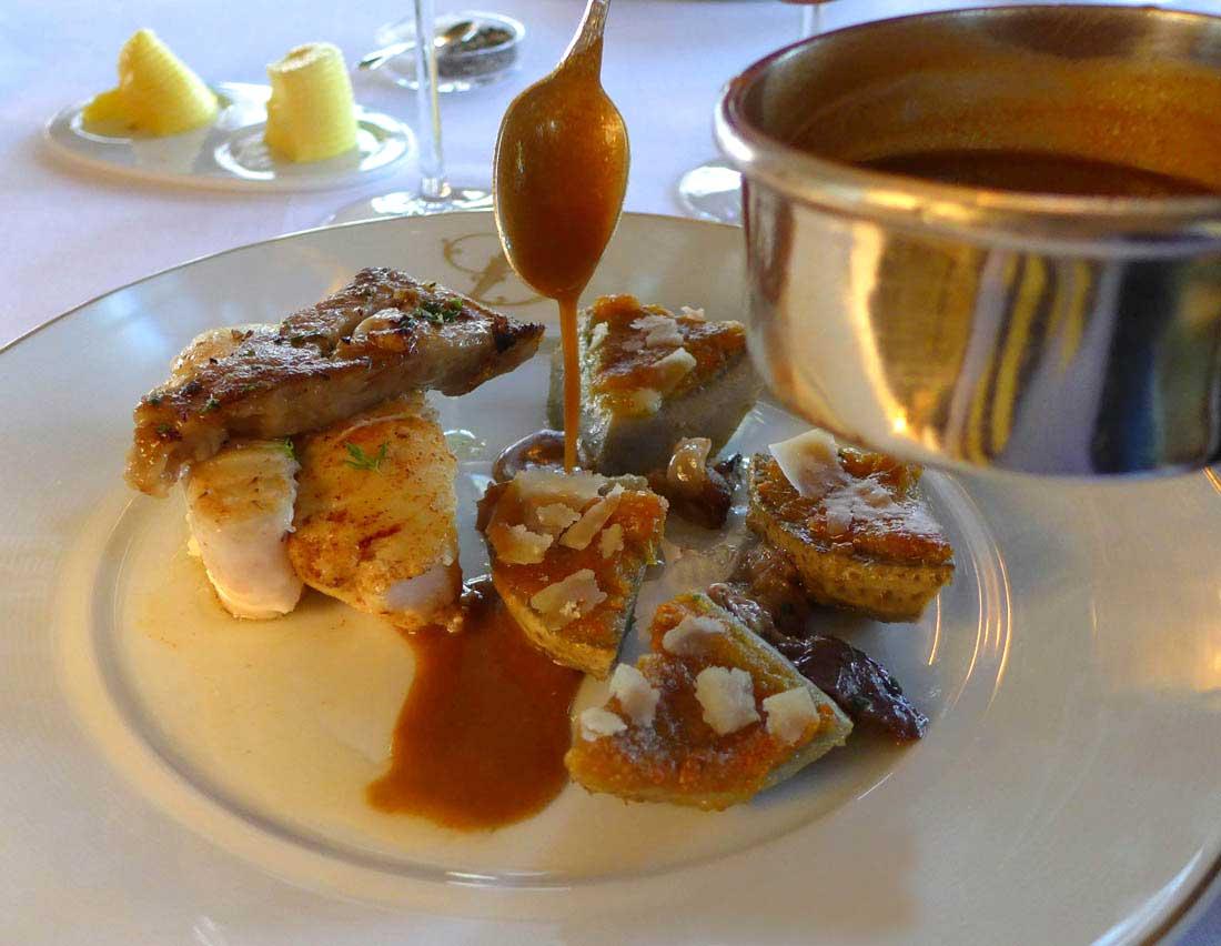 Restaurant Ledoyen : Turbot en tronçon rôti