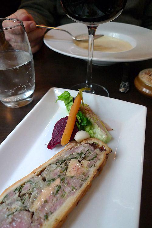Restaurant Les Bistronomes, pâté en croûte et ses légumes pickles