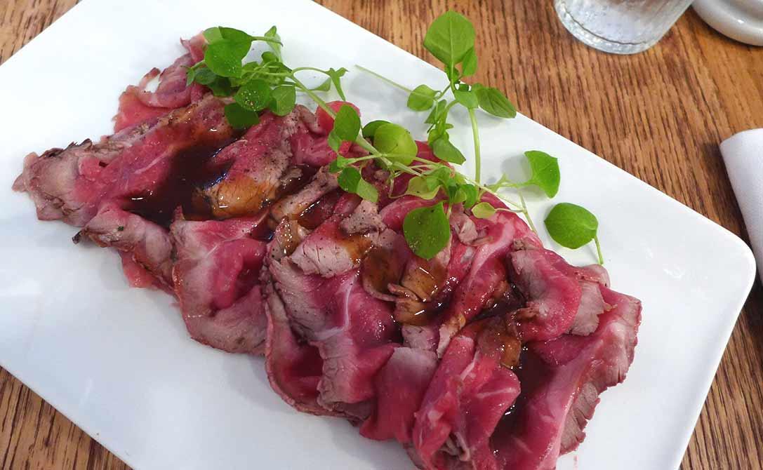 Restaurant Bien Elevé, Tataki de faux filet Angus fumé