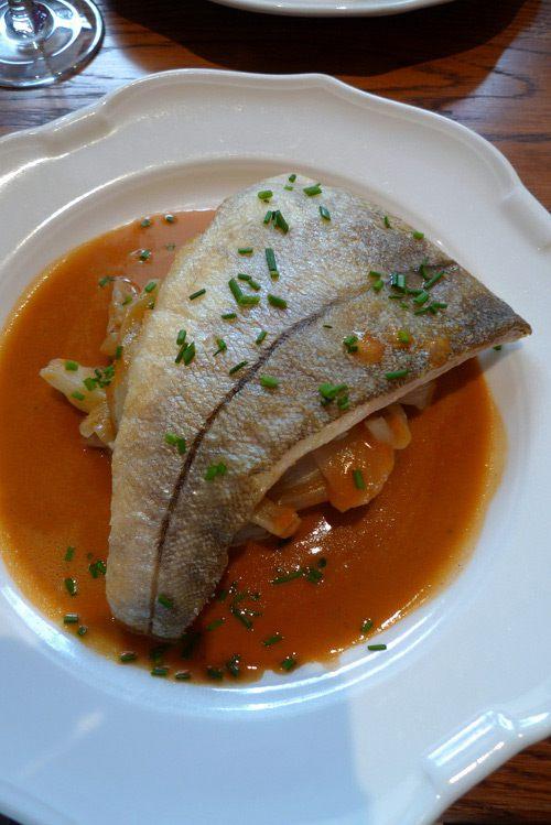 Restaurant Les Botanistes, L'églefin rôti au coulis de langoustine et purée