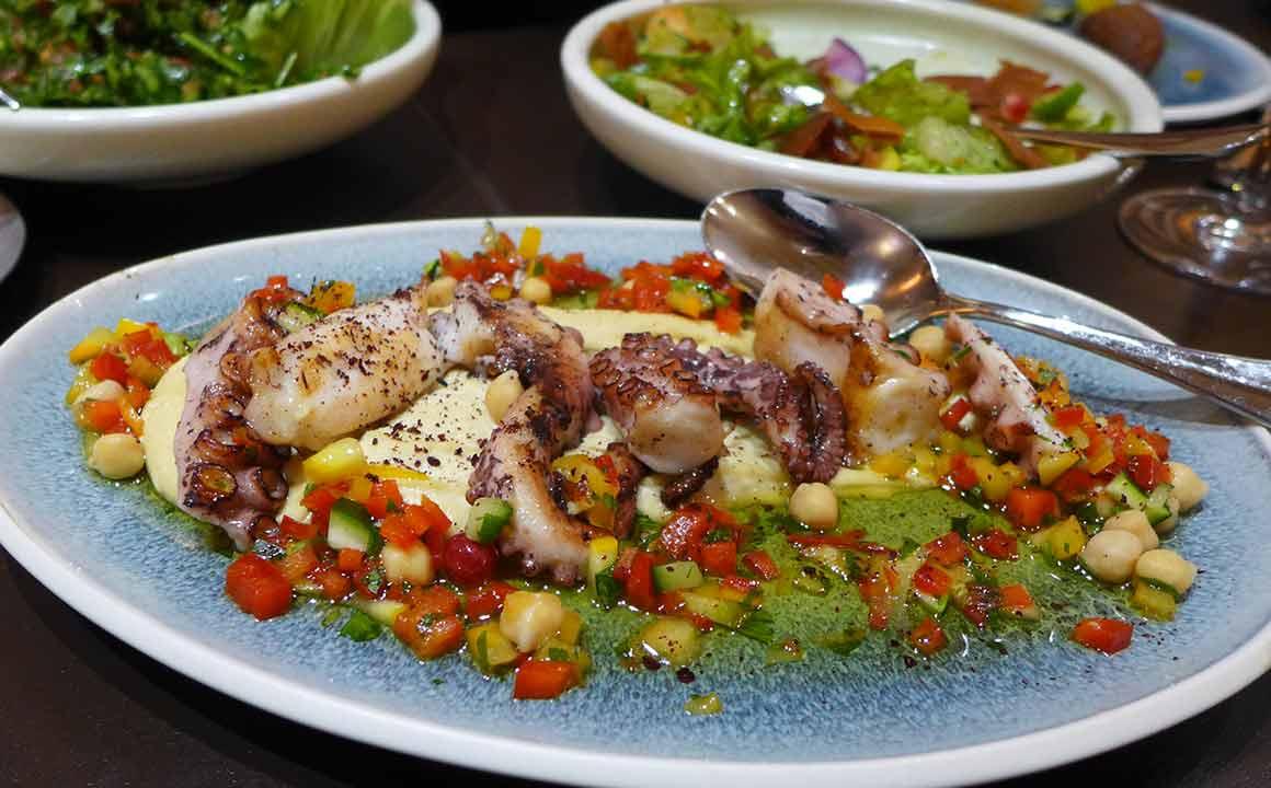 restaurant Maison Noura Printemps poulpe grillé
