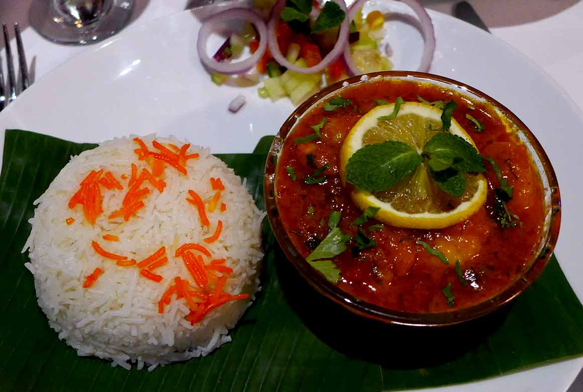 Restaurant Jaipur Café, Crevettes massala