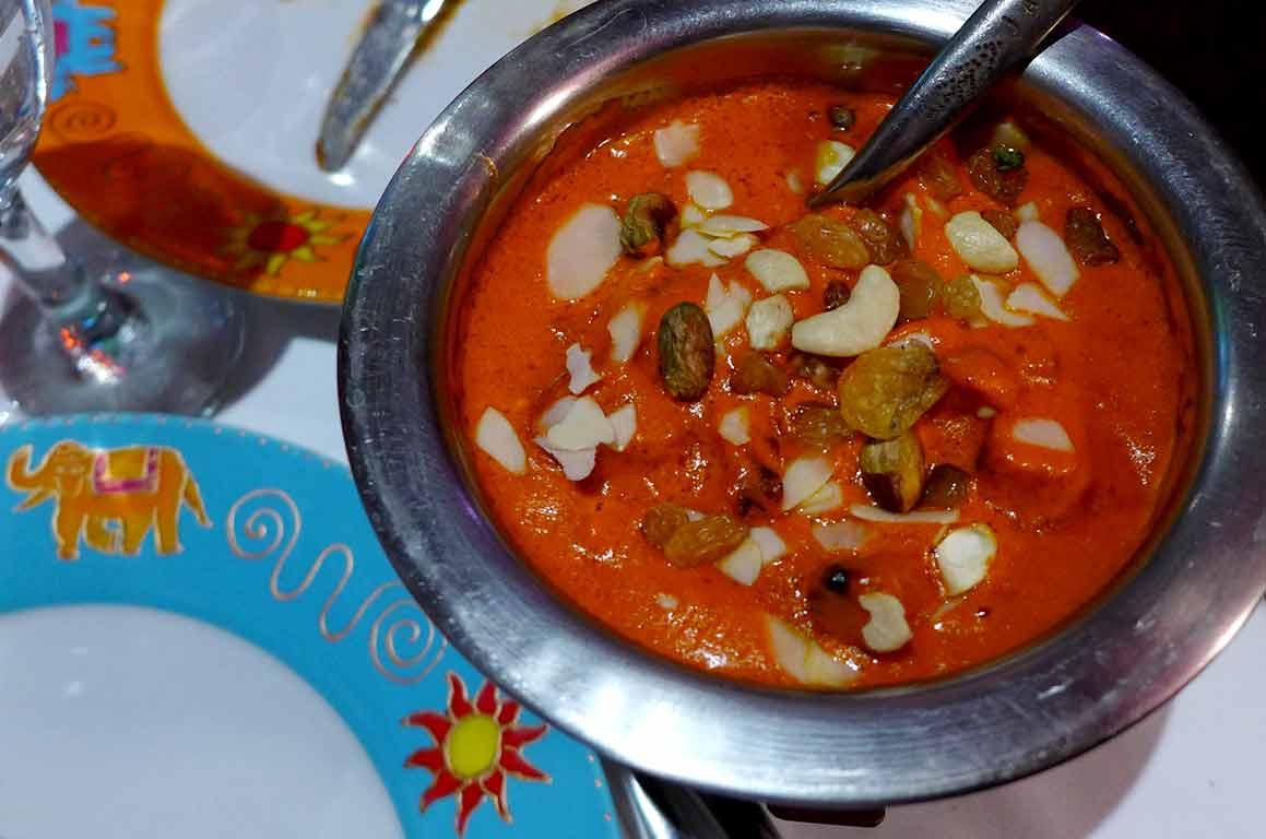 Restaurant Jaipur Café, Butter chicken