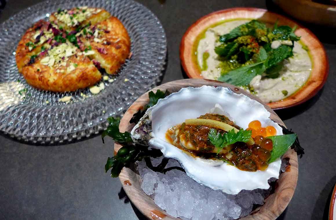 Restaurant Shirvan, Riz avec chermoulah d'huître