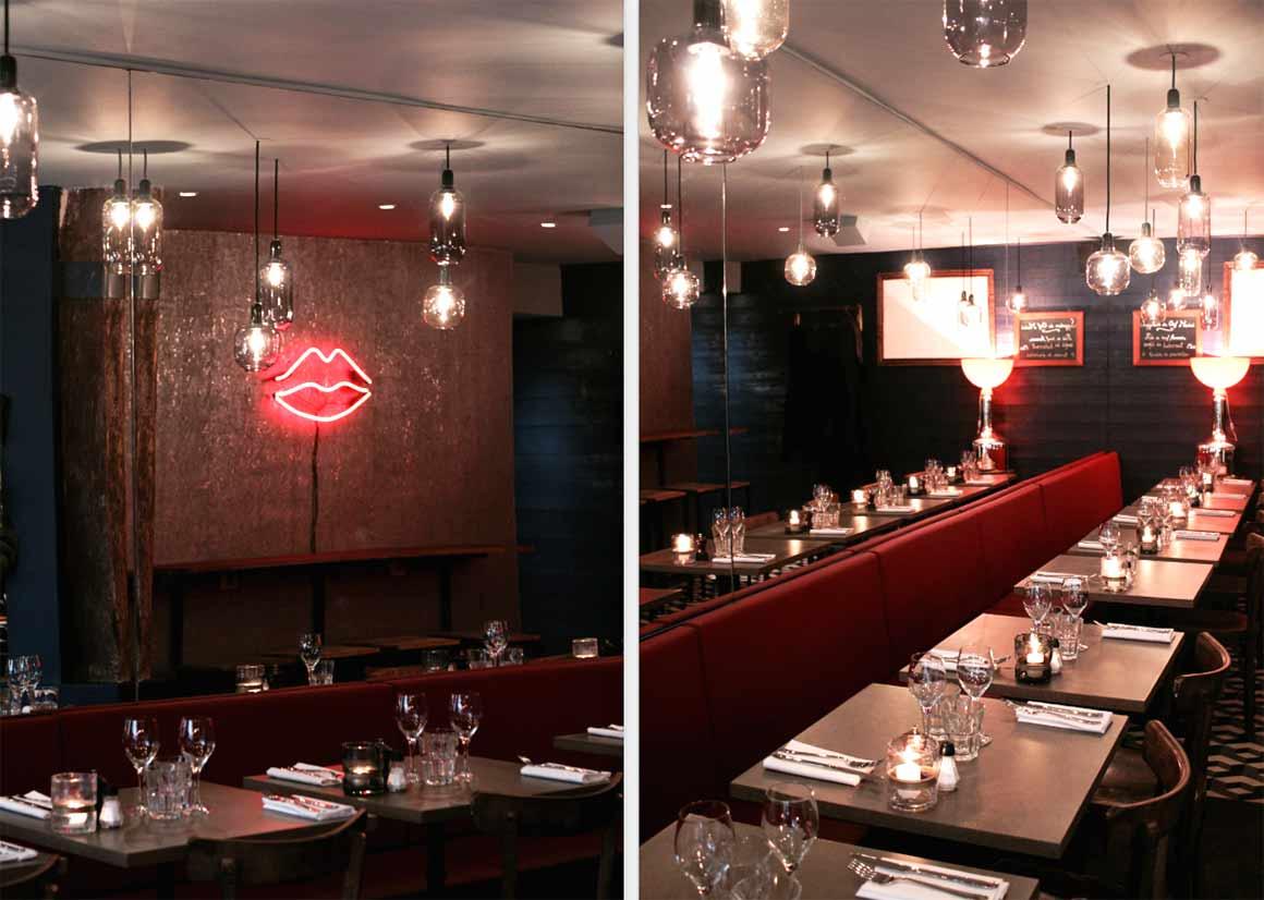 Restaurant Les Lèvres Rouges : La salle