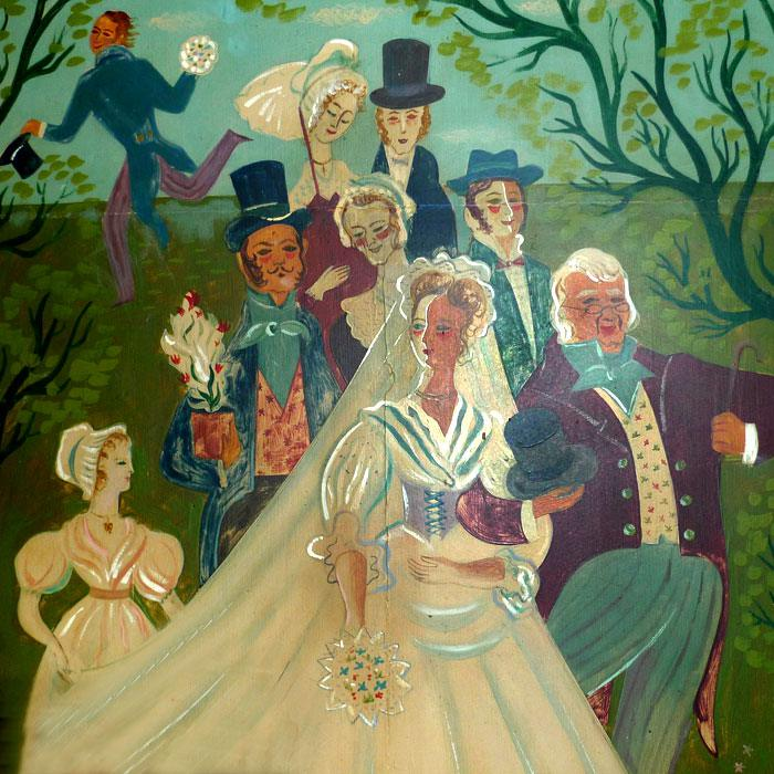 Illustration murale de la Noce de Jeannette