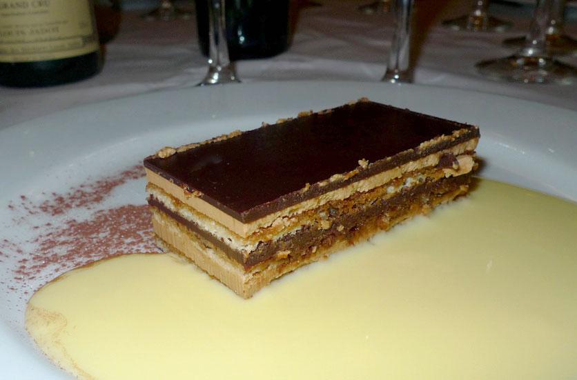 Restaurant Les Noces de Jeannette, gâteau Opéra chocolat-café