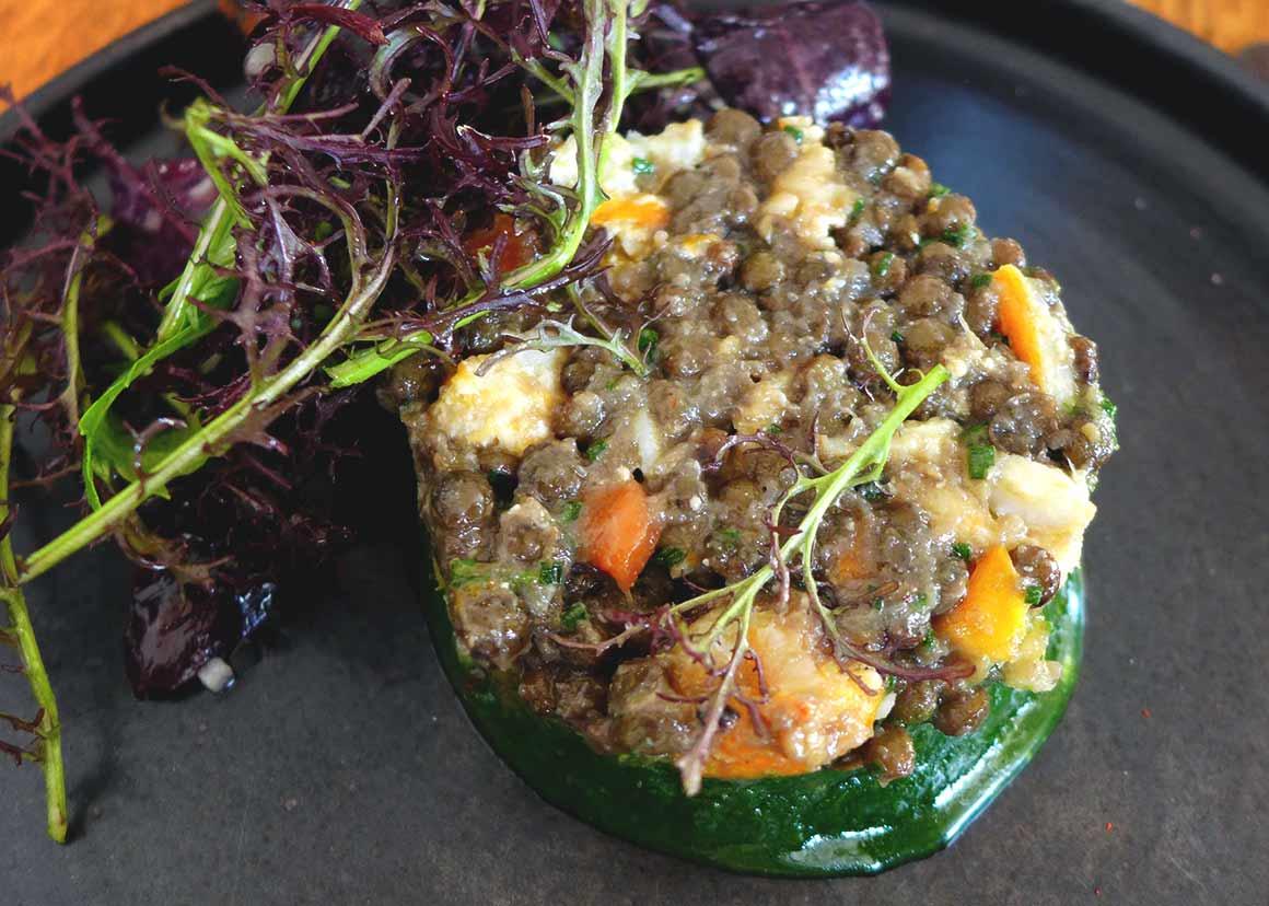 Restaurant Les Petits Princes : Salade de lentilles au haddock fumé