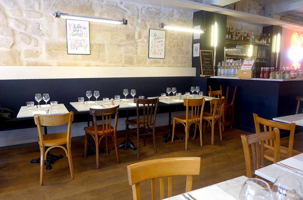 Restaurant Les Pinces Saint Germain : La salle