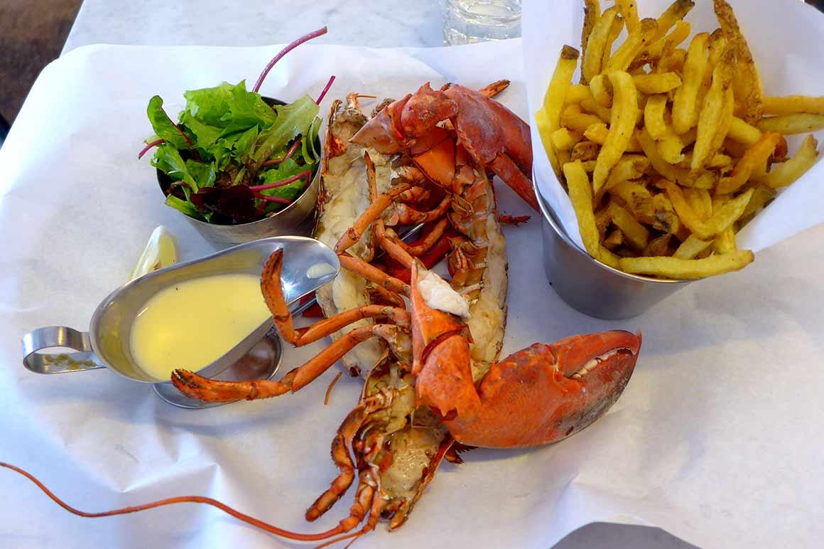 Restaurant Les Pinces Saint Germain : Homard rôti