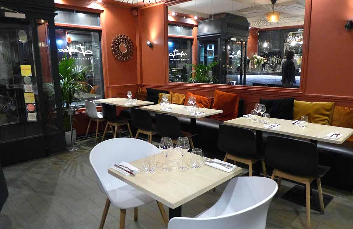 Restaurant Fanfan, La salle