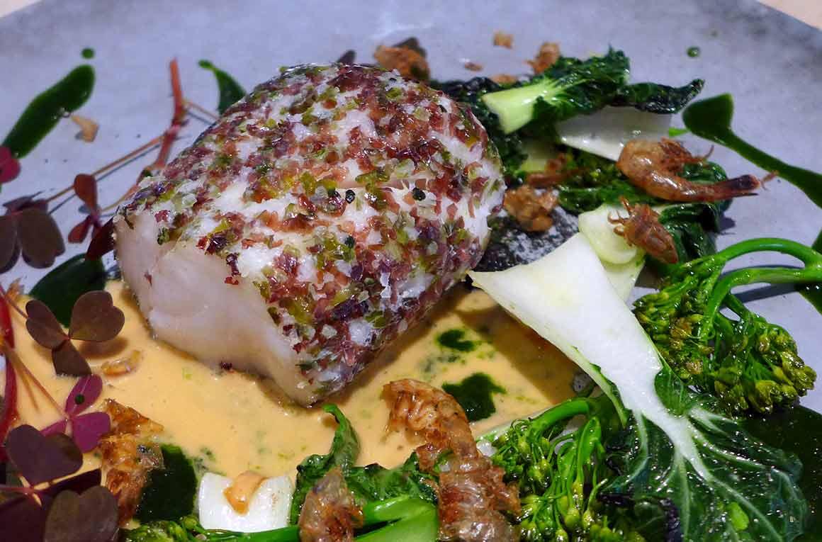 Restaurant Fanfan, Cabillaud crevettes grises