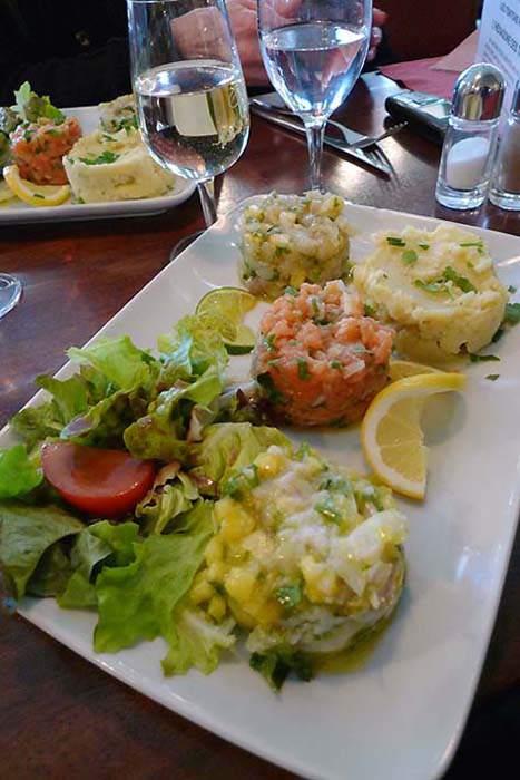 Bistrot Les Tontons 2, Les tartares de poissons
