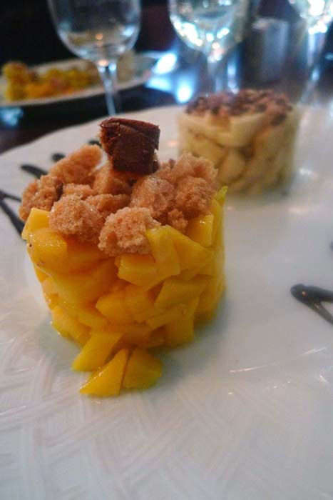 Bistrot Les Tontons 2, Le tartare de mangue au pain d'épices et jus de citron vert