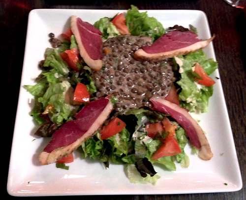 Restaurant Les Tontons Gobelins, salade de lentilles