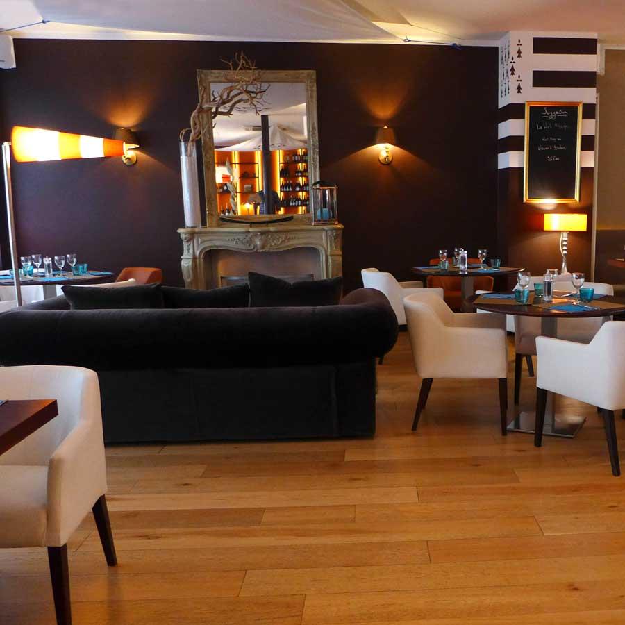 La salle du restaurant Les Voiles