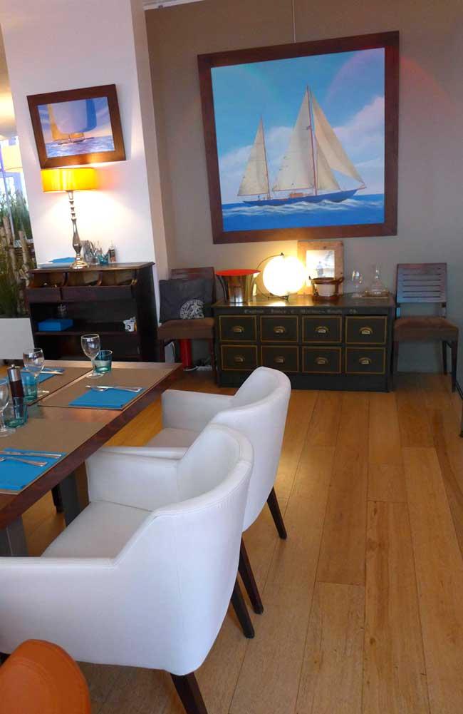 Mobilier confortable et décoration maritime
