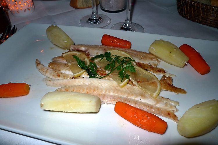 Restaurant L'Escargot, sole de Bretagne sautée meunière