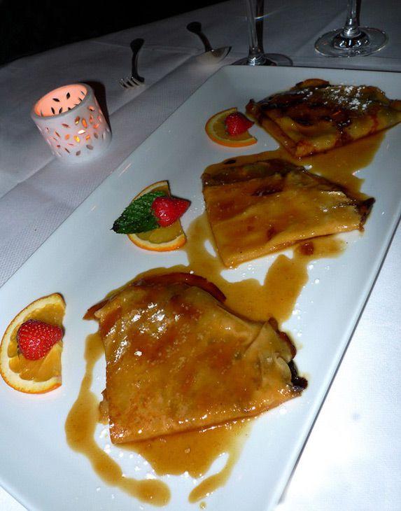 Restaurant L'Escargot, crêpes flambées