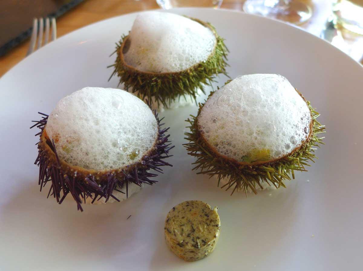 Restaurant L'ESCUDELLA : Gelée de coquillages et écume d'eau de mer