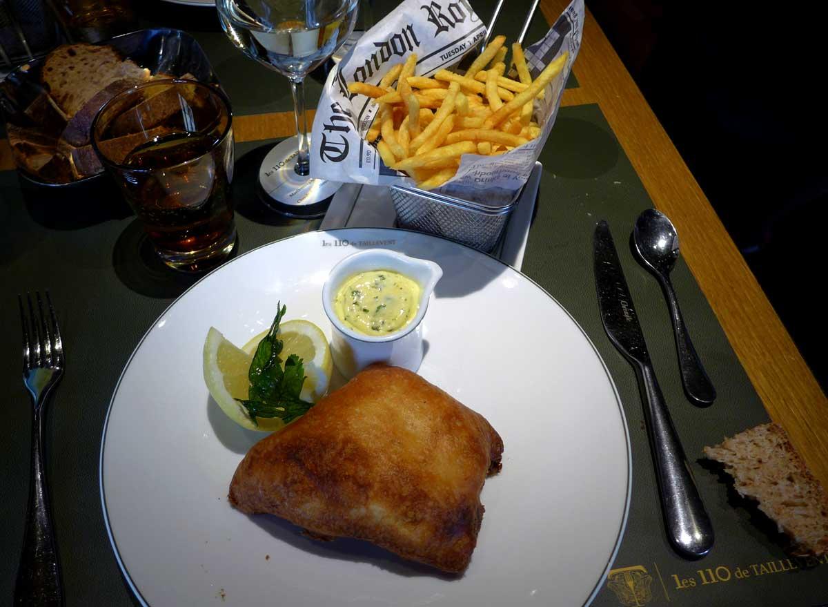 Restaurant Taillevent, Fish & Chips