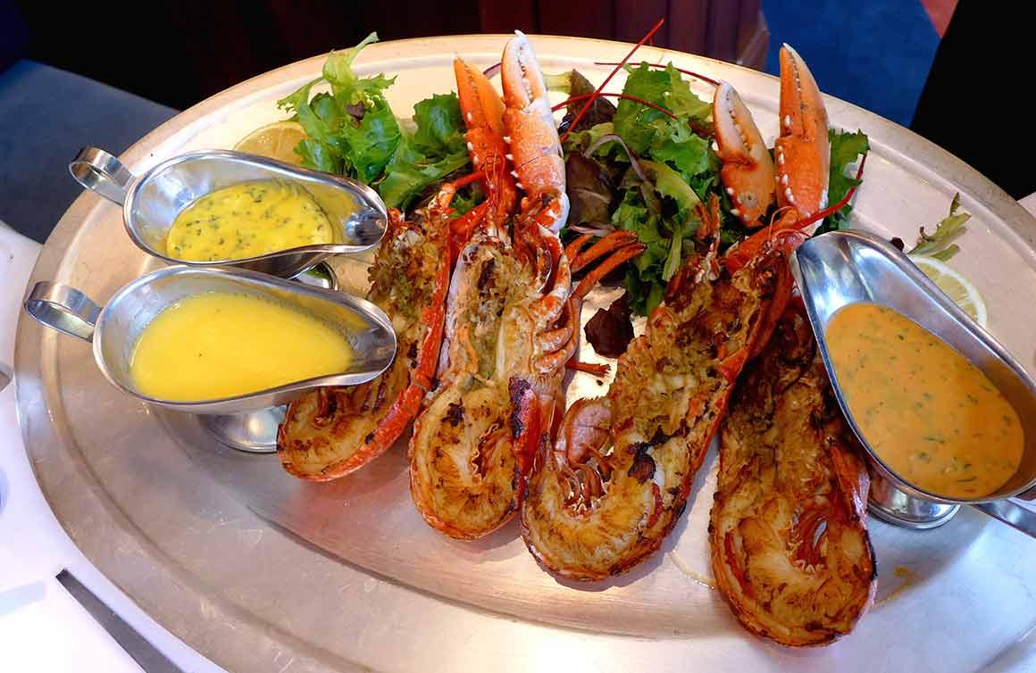 Brasserie La Lorraine, Le homard grillé