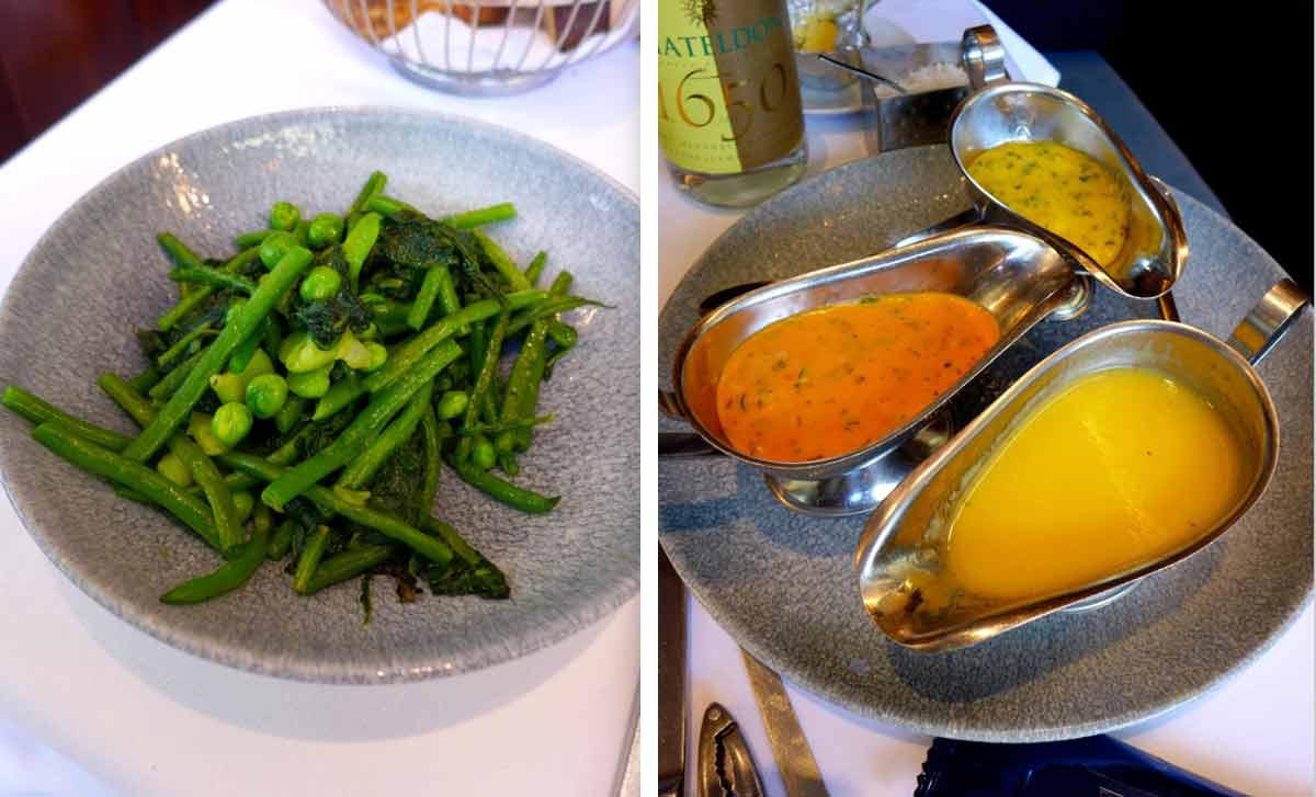 Brasserie La Lorraine, Les accompagnements du homard