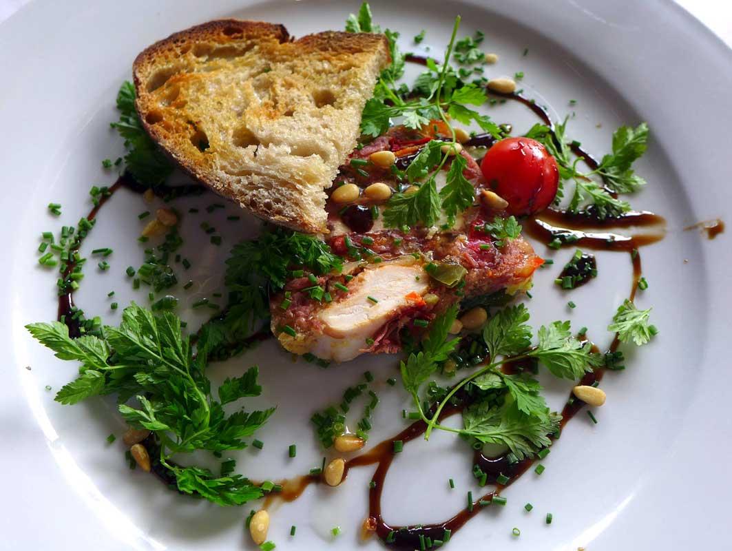 Restaurant L'ILE, pressé de canard
