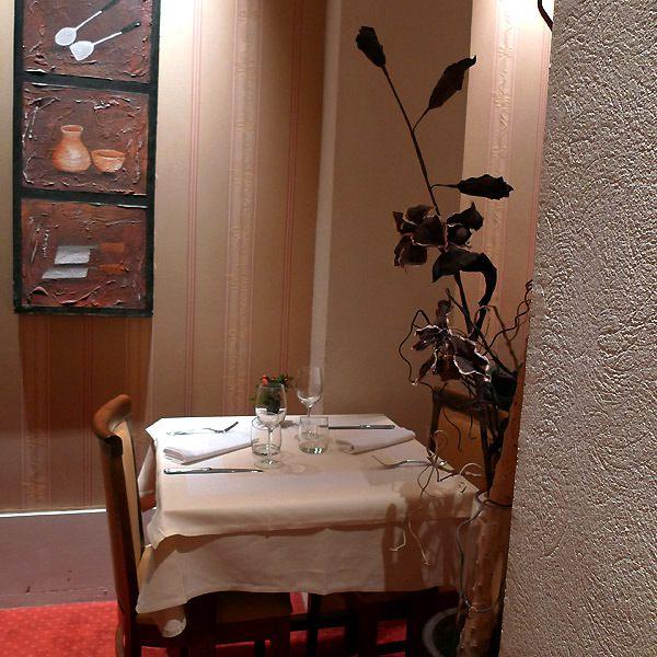 Restaurant L'Inattendu, Le confort des tables
